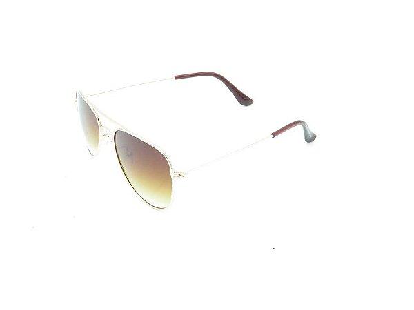 Óculos de Sol Prorider Infantil Dourado com Lente Degradê Marrom - 7754-A