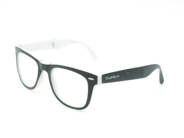 Óculos para Grau Paul Ryan Branco e Preto Fosco - D8501