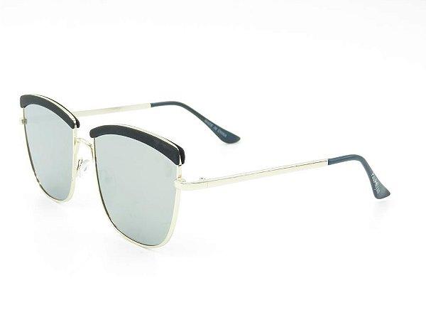 Óculos de Sol Paul Ryan Dourado com Preto - EA0167