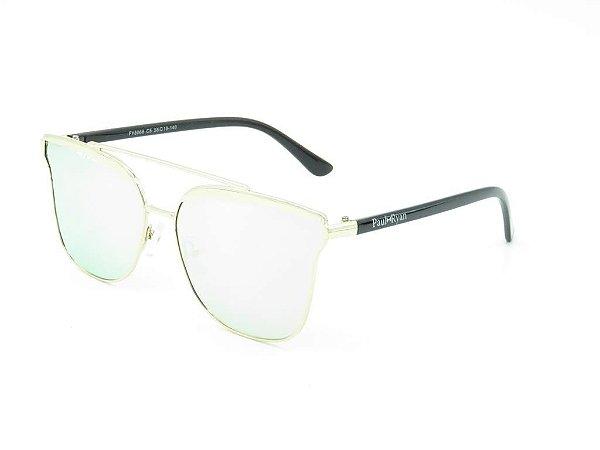 Óculos de Sol Paul Ryan Prata com Preto - FY8066