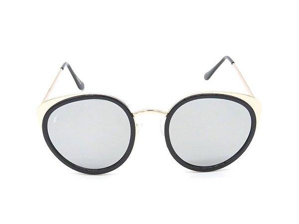 Óculos de Sol Prorider Preto Fosco com Lente Espelhada Prata - CARPATOS