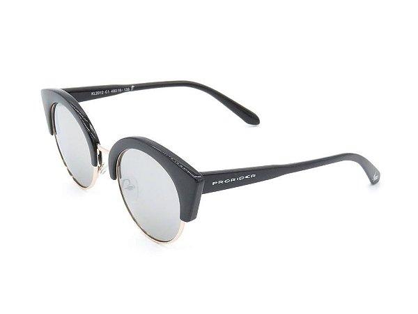 Óculos de Sol Prorider Preto com Detalhe Dourado - KL2012C1