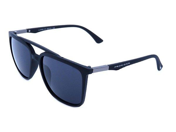 Óculos de Sol Prorider Preto Fosco com Detalhe Prata - LL3049C3