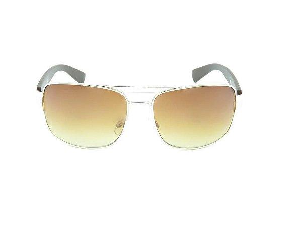 Óculos solar Prorider prata com haste em preto fosco e lente marrom RM6212