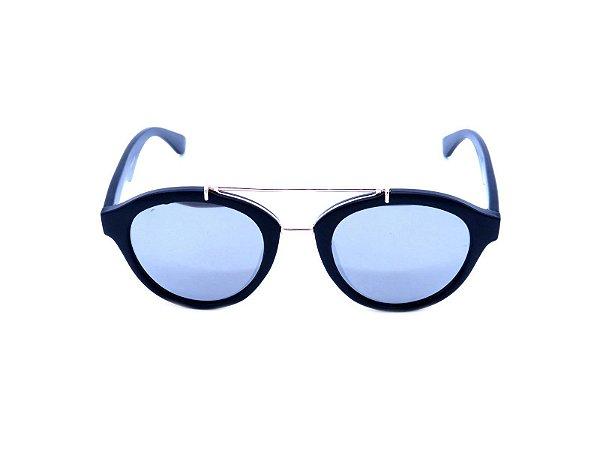Óculos de Sol Prorider Preto Fosco com Detalhe Dourado - YD1629C4