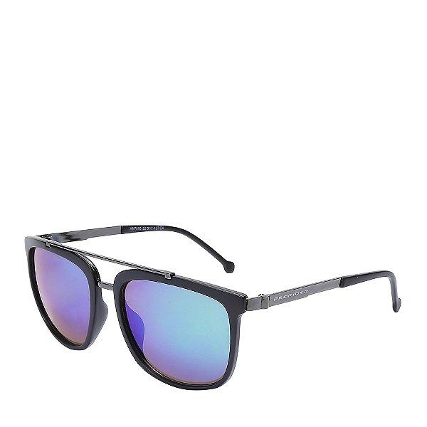 Óculos Solar Prorider Preto&Prata com lente gradiente HM7010C4