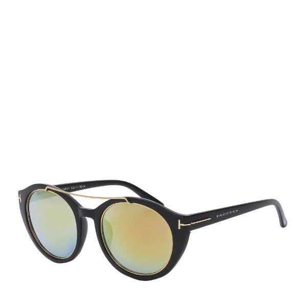Óculos de Sol Prorider Preto e Dourado com Lente Espelhada - HM7011C4
