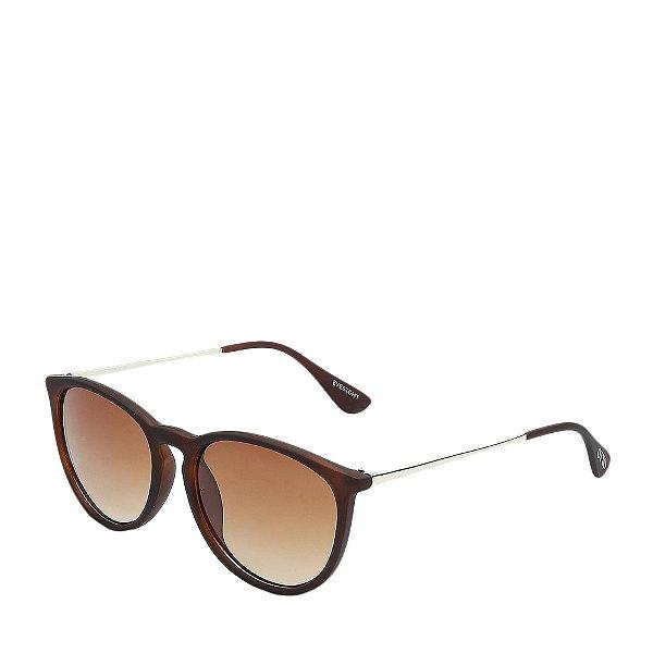 Óculos Solar Otto marrom fosco e dourado EYESIGHT