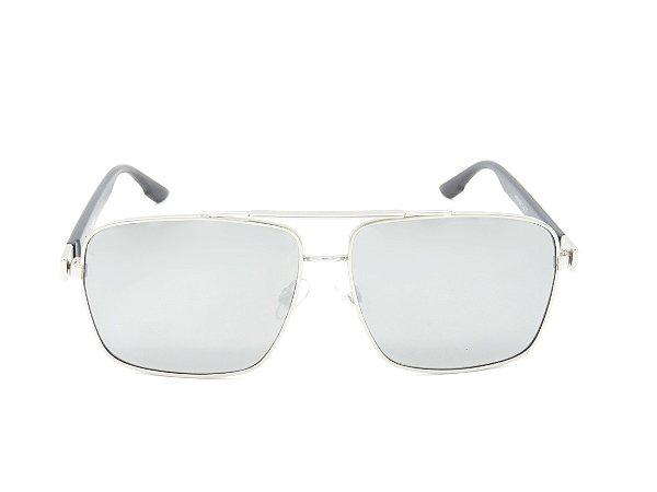 Óculos de Sol Paul Ryan Preto e Prata - 7372