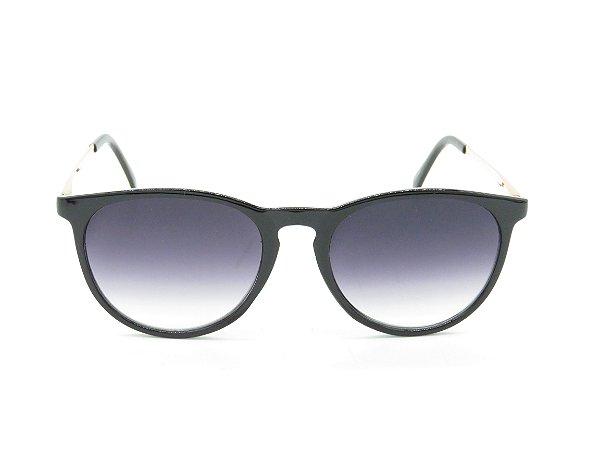 Óculos de Sol Paul Ryan Preto Fosco e Dourado Com Lente Degradê - 7394