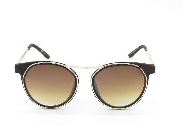 Óculos Solar Prorider marrom fosco com dourado YD1746C1