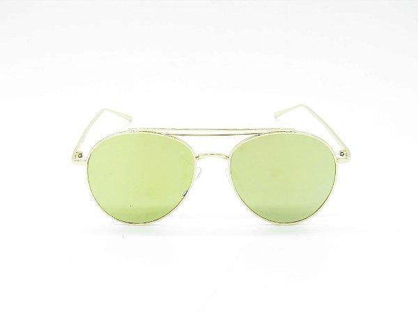 Óculos de Sol Paul Ryan Dourado com Lente Fumê - PARINACOTA