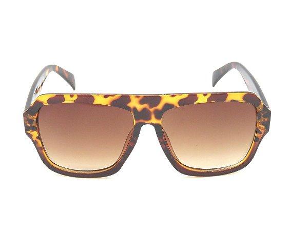 Óculos de Sol Paul Ryan Tartaruga com Lente Degradê - FY82005C2