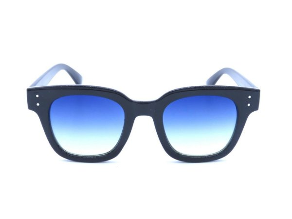 Óculos solar Prorider preto com lente degrade azul/amarelo CJH72027C2