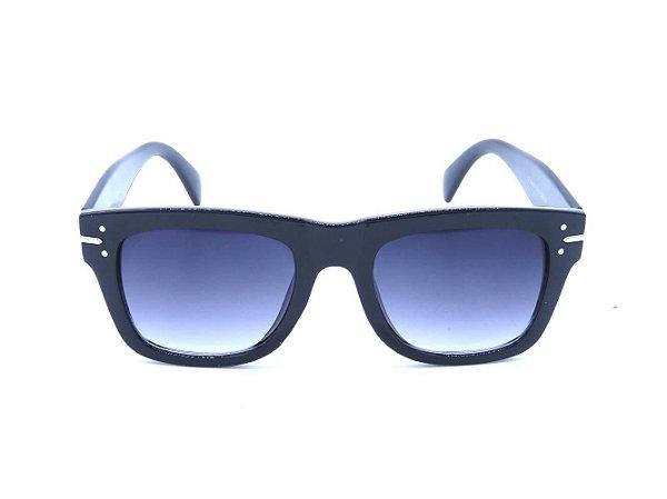 Óculos de Sol Prorider Preto e Prata com Lente Degradê - FY82003C1