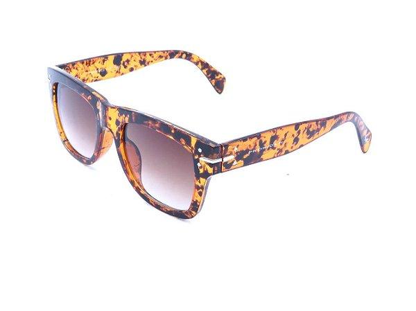 Óculos de Sol Bad Rose Animal Print e Lente Degrade - FY82003C6