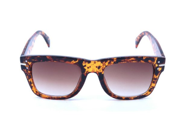 Óculos Solar Bad Rose com Animal Print e Lente Degrade - FY82003C6