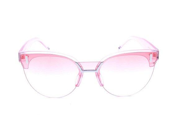 Óculos de Sol Bad Rose Rosa Translúcido Fosco - JQ7914C5