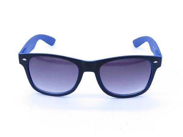 Óculos de Sol Prorider Preto e Azul Fosco com Lente Degradê - 888-2