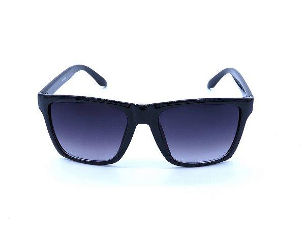 Óculos de Sol Preto com Lente Degradê - 4172-1