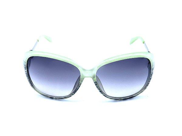 Óculos de Sol Prorider Verde com Degradê Preto e Haste Prateada