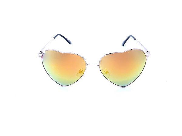 Óculos de Sol Prorider Dourado com Lente Espelhada Colors - 3026