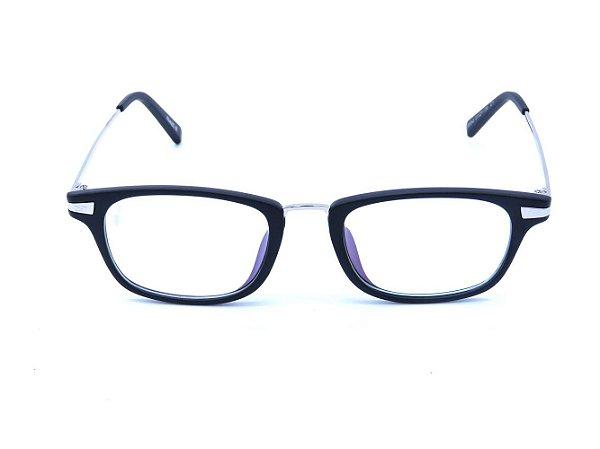 Óculos para Grau Prorider Preto Fosco com Prata - B6042-C1