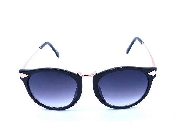 Óculos de Sol Prorider Preto e Dourado e Lente Degradê - CAMPECHE