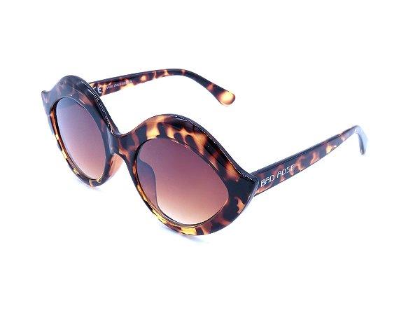 Óculos de Sol Bad Rose Animal Print e Lente Degrade - YD1769C2