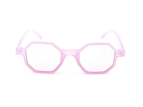 Óculos de Sol Bad Rose Rosa Translúcido Octogonal - YD1848C4