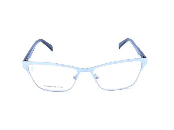 Óculos Receituário Prorider Branco Fosco e Prata com Haste estampada - DS14004C2