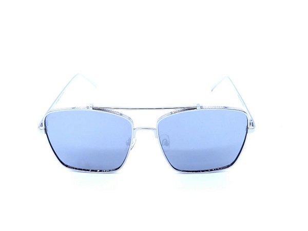 Óculos de Sol Prorider Dourado com Lente Espelhada Prata - FY8041C8