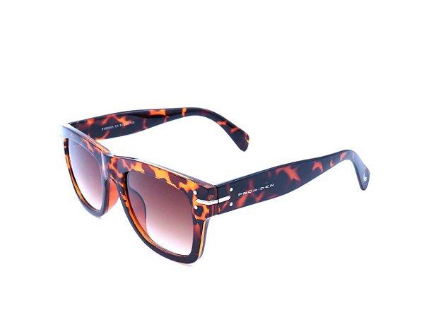 Óculos Solar Prorider com Animal Print e Lente Degrade Marrom - FY82003C3