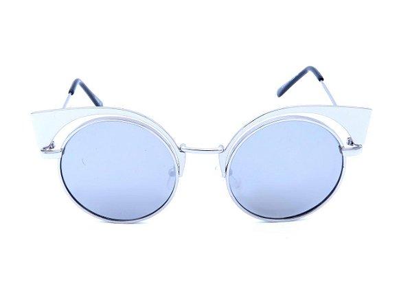 Óculos de Sol Prorider Prata com Lente Espelhada Prata - H01476C7