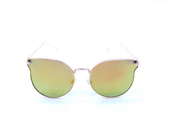 Óculos de Sol Prorider Dourado com Lente Espelhada Colors - H01493C3