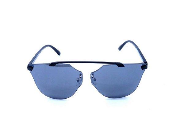 Óculos de Sol Prorider Preto Fosco com Lente Espelhada Prata - H01552C6