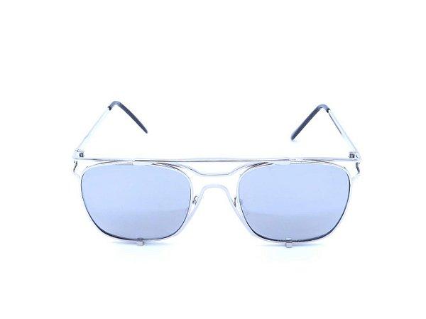 Óculos de Sol Prorider Prata com Lente Espelhada Prata - H01561C6