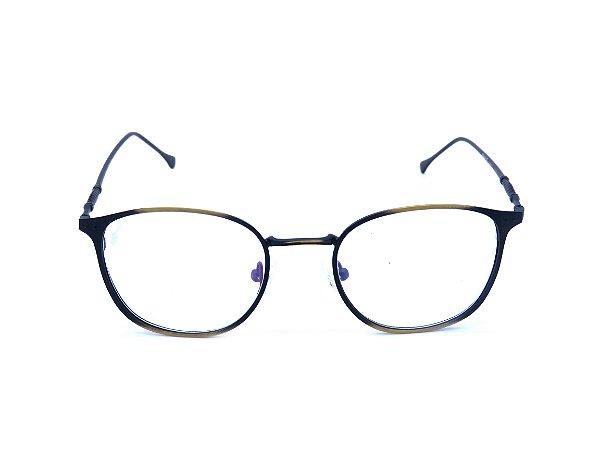 Óculos Receituário Prorider Dourado e Preto Fosco - L3260