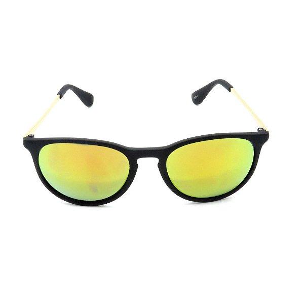 Óculos de Sol Prorider Preto Fosco e Dourado com Lente Espelhada Colors - 25236