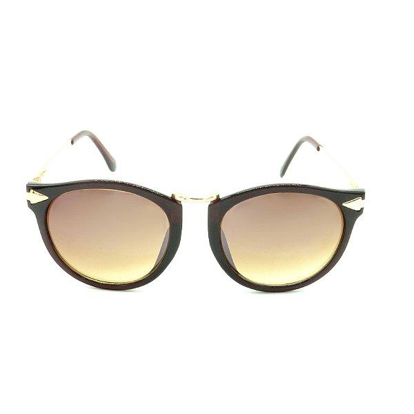 Óculos de Sol Prorider Marrom e Dourado com Lente Degradê - ACUCENA