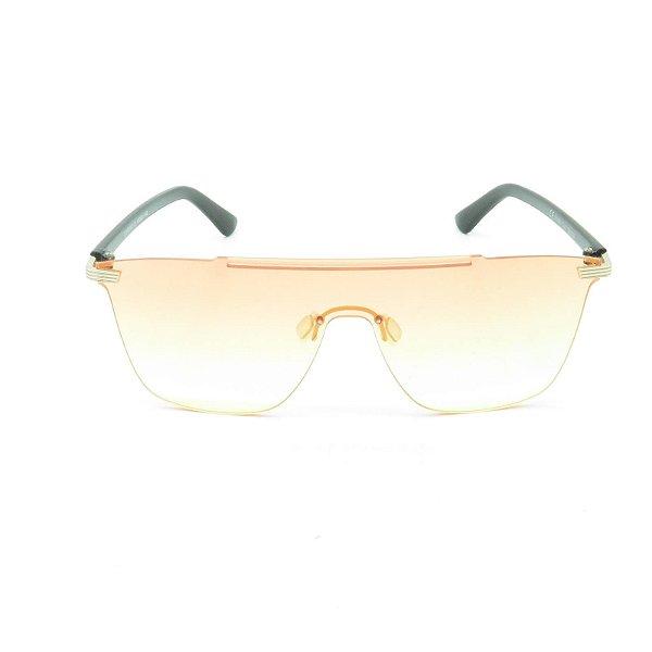 Óculos de Sol Prorider Preto e Dourado com Lente Degradê Rosa e Amarelo - CJH72042C3