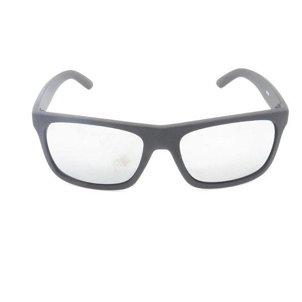 Óculos de Sol Prorider Preto Fosco com Lente Espelhada Prata - GP209