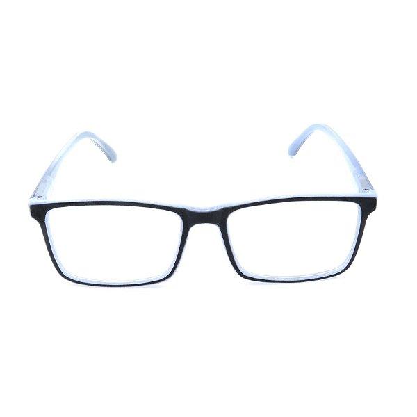 Óculos Receituário Prorider Azul Translúcido com Preto - GP036