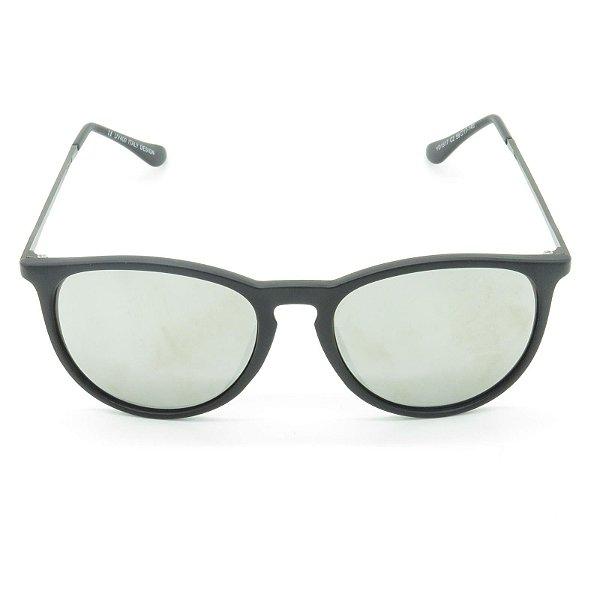 Óculos de Sol Prorider Preto Fosco com Lente Espelhada Prata - YD1517C2