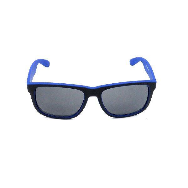 Óculos de Sol Prorider Preto e Azul Fosco  com Lente Fumê - Z4165-7