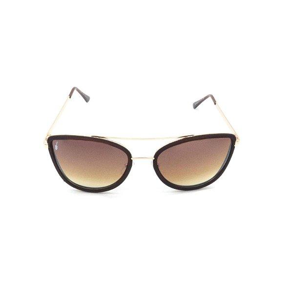 Óculos Solar Prorider Marrom Fosco com Dourado - H01769C1