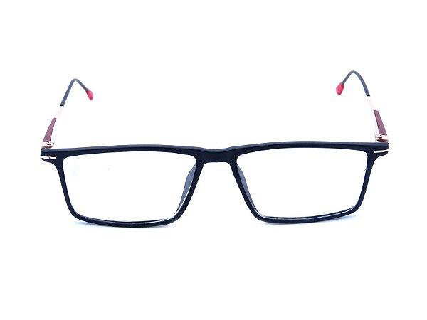 Óculos Receituário Prorider Preto Fosco com Dourado e Vermelho - XR007-C2