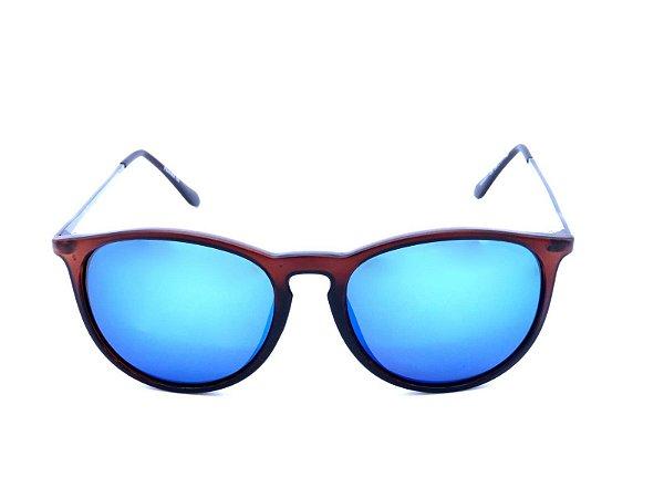 Óculos Solar Prorider Marrom Fosco com Grafite e Lente Espelhada - YD1517C6