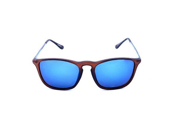 Óculos de Sol Prorider Marrom Fosco com Grafite e Lente Espelhada - YD15187C6