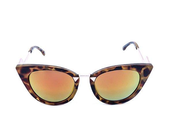 Óculos de Sol Prorider Animal Print Dourado  - YD1700C7